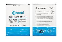 Оригинальный аккумулятор NB-550 для Nomi i550 Space 3000mAh