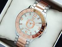 Женские кварцевые часы Pandora c блестками на логотипе, серебро-розовое золото