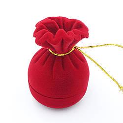 Футляр под кольцо Мешок красный