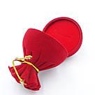 Футляр под кольцо Мешок красный, фото 3