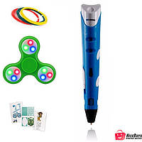 Оригинальная 3D-ручка MyRiwell 1 RP100A Blue + 30 метров пластика