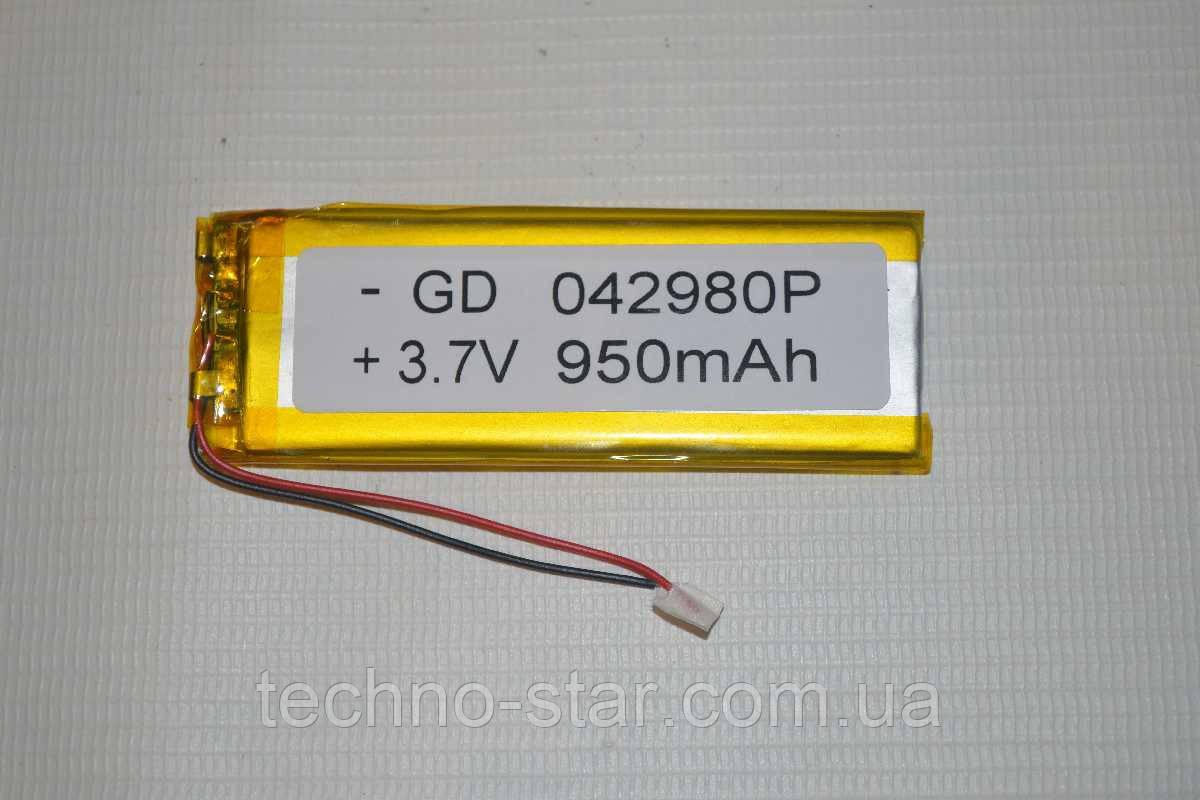 Универсальный аккумулятор (АКБ, батарея) 3.7V 950mAh (4.0*29*80mm)