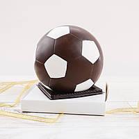 """Шоколадная фигура """"Футбольный мяч черный"""" ЭЛИТНОЕ сырье. Размер: Ø120 мм, вес 400 г, фото 1"""