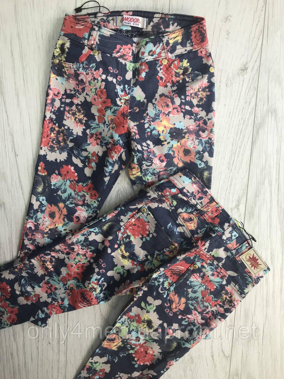 Лосины цветочные для девочек 1-5 лет