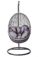 Кокон кресло ротанг Bacoli gray/ крісло-кокон сіре