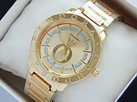 Золотистые женские часы Pandora с блестками вокруг меток , фото 1