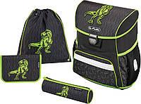 Ранец Herlitz Loop Plus Green Dino для первоклассников