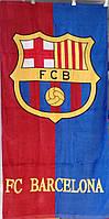 Пляжное полотенце велюр-махра 70х140 см FC Barcelona