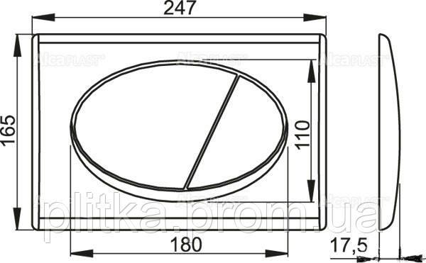 Панель смыва ALCA PLAST M71 Хром глянцевый, фото 2