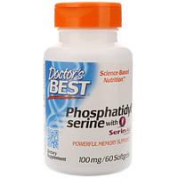 Фосфатидилсерин 100 мг 60 капс для улучшения интеллекта памяти  защита мозга от старения Doctor's Best USA
