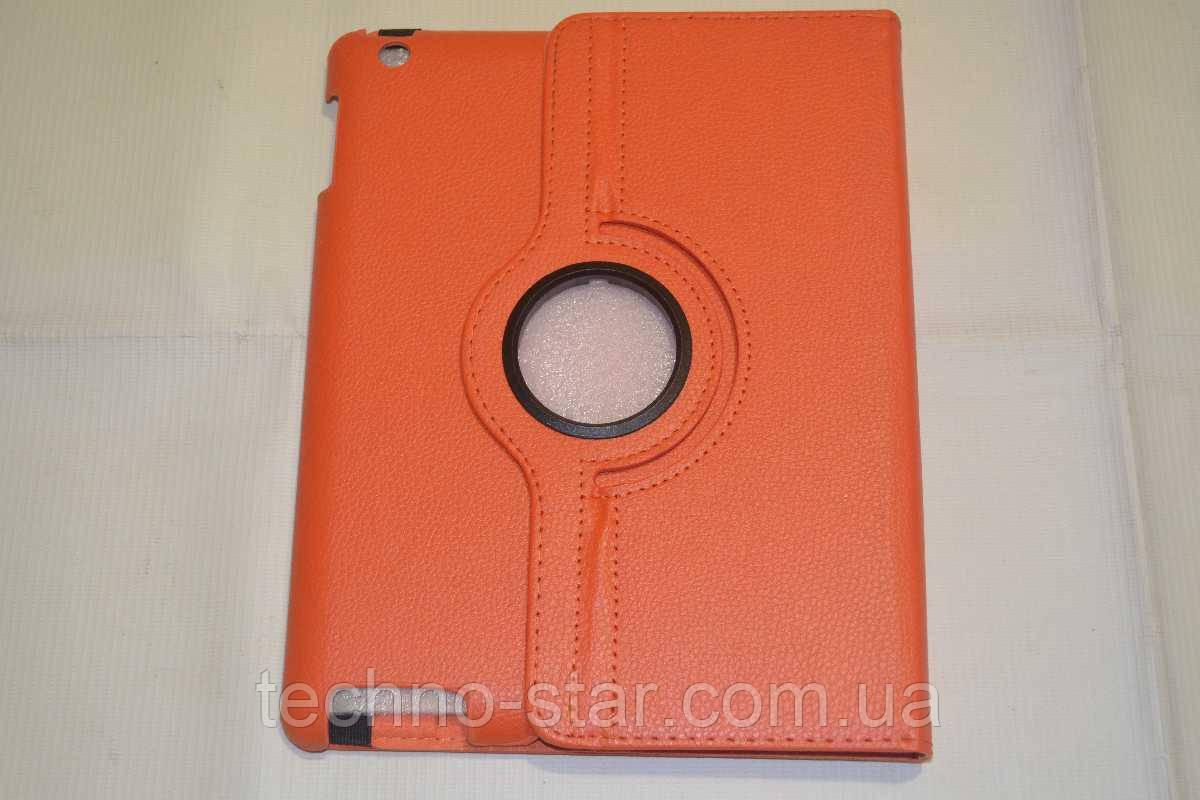 Поворотный 360° чехол-книжка для Apple iPad 2 | 3 | 4 (оранжевый цвет)