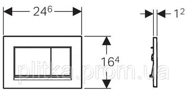 Панель смыва GEBERIT Sigma 30 хром матовый/хром глянцевый/хром матовый 115.883.KN.1, фото 2