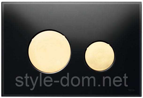 Панель смыва TECE TECEloop Black Glass/Gold Buttons 9240658