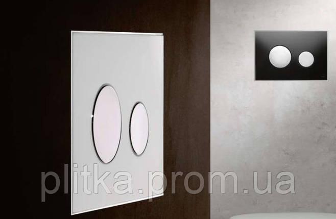 Панель смыва TECE TECEloop Black Glass/Gold Buttons 9240658, фото 2