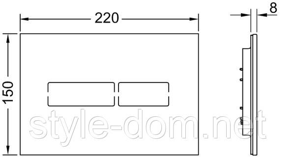 Панель смыва TECE TECElux Mini сенсорная Glass Black 9240961, фото 2
