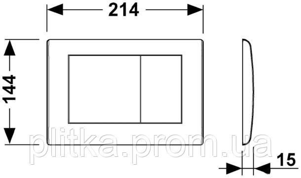 Панель смыва TECE TECEplanus Copper 9240365, фото 2