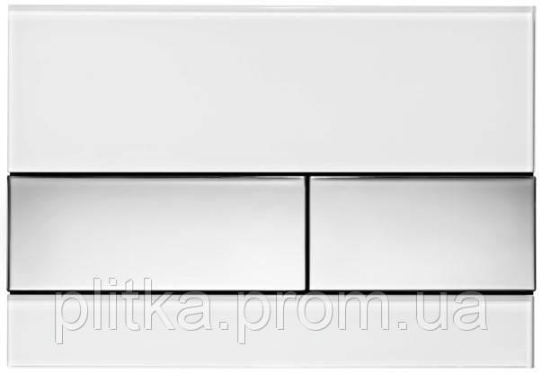 Панель смыва TECE TECEsquare White Glass/Bright Chrome Buttons 9240802