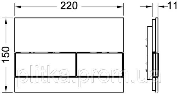 Панель смыва TECE TECEsquare White Glass/Bright Chrome Buttons 9240802, фото 2