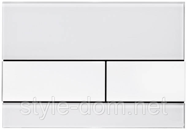 Панель смыва TECE TECEsquare White Glass/White Buttons 9240800, фото 2