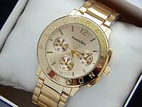Золотистые женские часы Pandora с дополнительными циферблатами, фото 1