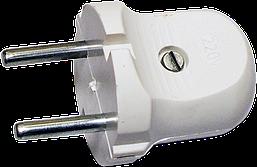 Вилка В 10-176/10А белая (колокольчик)