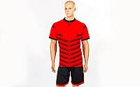 Футбольная форма Hatch  (PL, р-р S-3XL, красный, шорты черные)