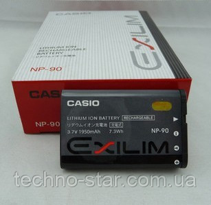 Аккумулятор Casio NP-90 для Exilim EX-FH100   EX-FH100BK   EX-H10   EX-H15   EX-H20G