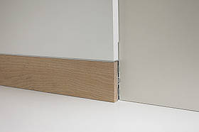 Скрытый плинтус моделирумый в стену Profilpas Metal line 87/6 база+88/16 вставка Бук натуральный