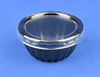 Соусник для соевого соуса ПС-390 Дно черное, с крышкой ПС-39, 50мл, 1шт