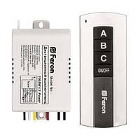 Выключатель дистанционный FERON TM76 3-канала 1000Вт Wireless 30м 220В