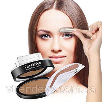 Порошок для бровей Turelifes Waterproof Eye Brow Stamp Powder Perfect Eyebrow