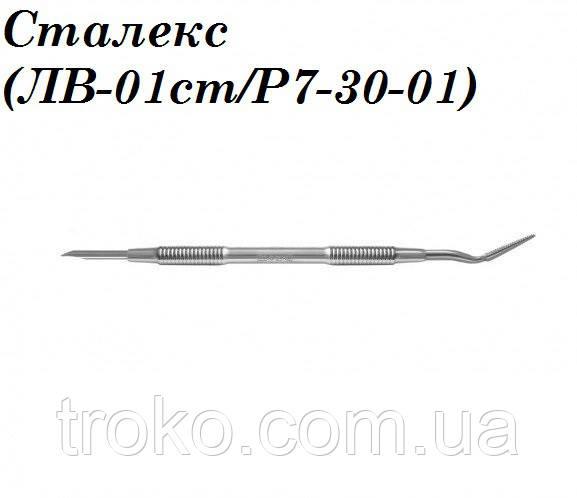 Сталекс (ЛВ-01ст/P7-30-01) Лопатка педикюрная (пилка под наклоном+лопасть)
