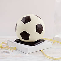 """Шоколадная фигура """"Футбольный мяч белый"""" КЛАССИЧЕСКОЕ сырье. Размер: Ø120 мм, вес 400г, фото 1"""