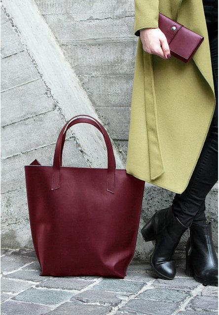 Жіночі шкіряні сумки шопери Wellbags і BlankNote на молнії ручної роботи 21dc244f11578