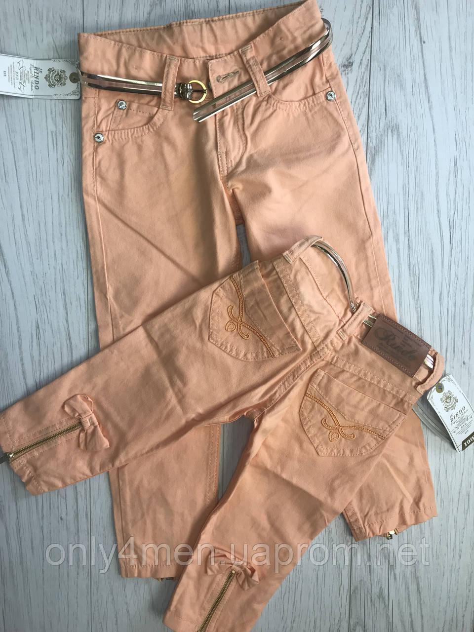 Детские штаны персик, для девочек 1-5 лет