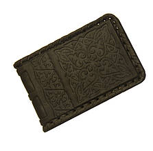 Визитница карманная кожаная ручной работы (Арт Кажан)