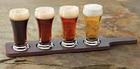 Подставка деревянная для 4-х стаканов Libbey Beer samplers 916713