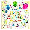 """Салфетки бумажные """"Happy Birthday"""" желтые 20шт/уп"""