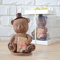 """Шоколадная фигура """"Медведь молочный"""" ЭЛИТНОЕ сырье. Размер: 90х66х146мм, вес 450г, фото 1"""