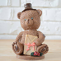 """Шоколадная фигура """"Медведь молочный"""" классическое сырье. Размер: 90х66х146мм, вес 450г, фото 1"""