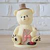 """Шоколадная фигура """"Медведь белый"""" КЛАССИЧЕСКОЕ сырье. Размер: 90х66х146мм, вес 450г"""