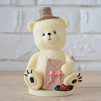 """Шоколадная фигура """"Медведь белый"""" КЛАССИЧЕСКОЕ сырье. Размер: 90х66х146мм, вес 450г, фото 1"""