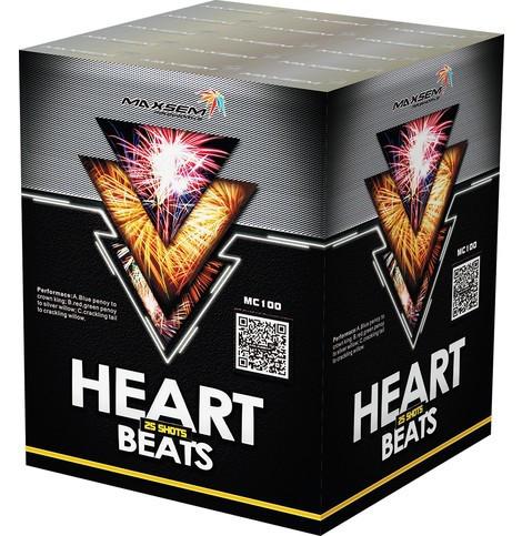 Фейерверк \ Салютная установка HEART BEATS Сердце бьется Калибр 30 мм \ 25 выстрелов MC100