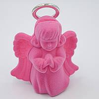 "Футляр бархатный под кулон ""Ангелочек"" розовый"