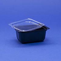 Соусник для соевого соуса ПС-190 Дно черное, с крышкой ПС-19, 75мл, 1шт