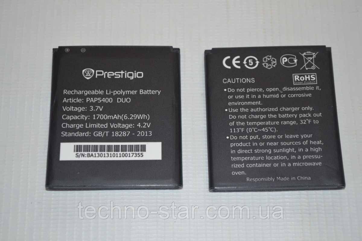 Оригинальный аккумулятор (АКБ, батарея) для Prestigio MultiPhone 5400 Duo