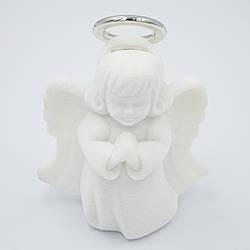 Футляр бархатный под кулон Ангелочек белый