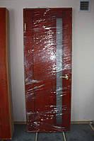 Дверной блок из массива сосны, со стеклом, фурнитурой, установкой (Д-9)