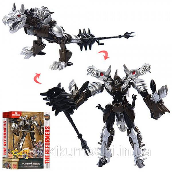 Трансформер робот + динозавр 23 см