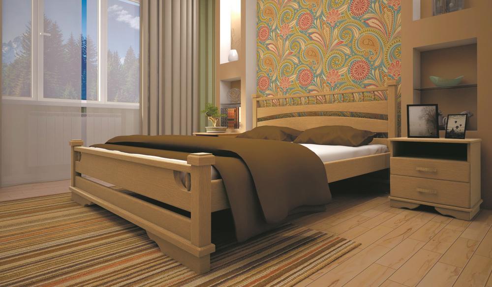 Кровать ТИС АТЛАНТ 1 140*190 дуб